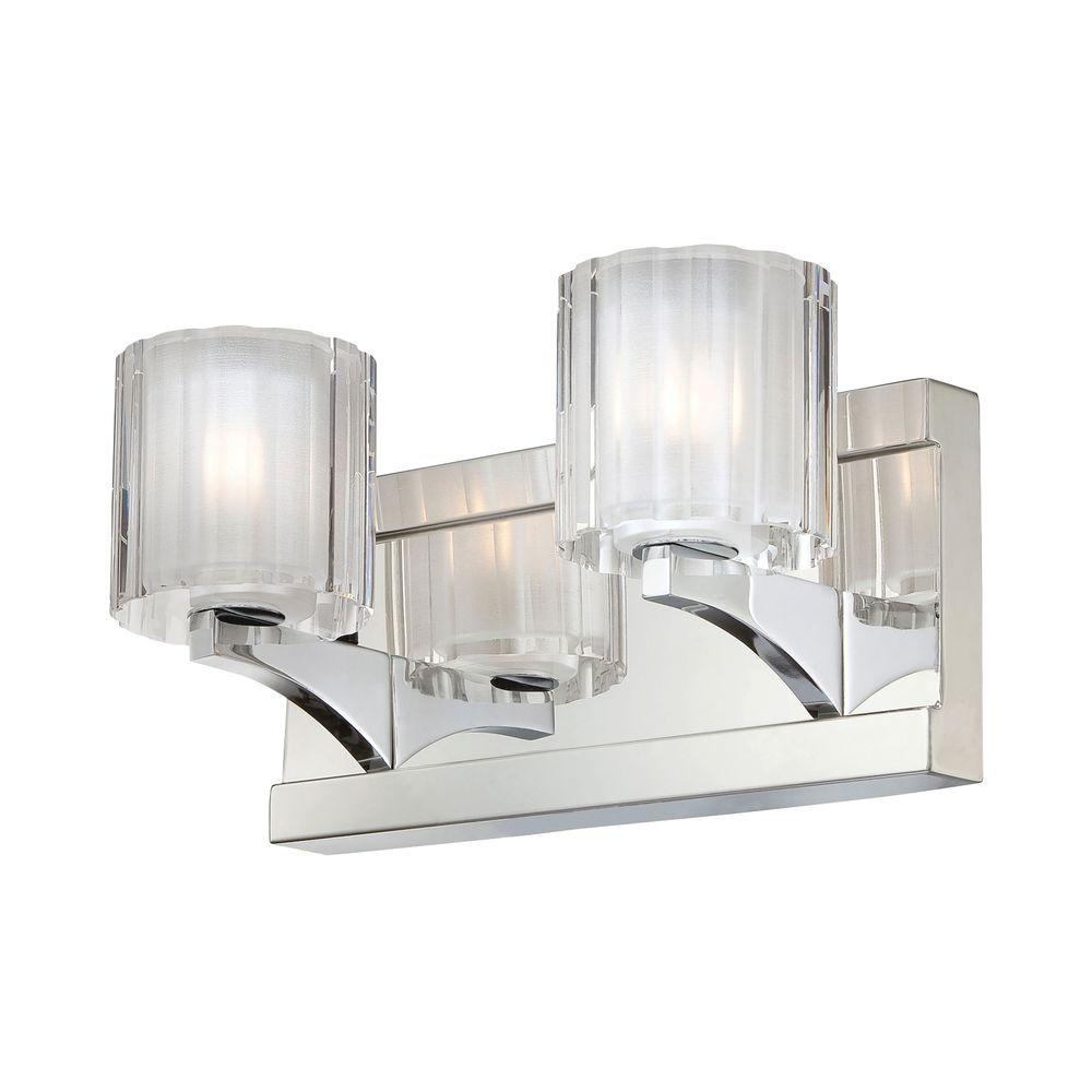 Vanity Lights With Clear Glass : Rondell 4-Light Chrome Vanity Light with Clear Crystal Glass-TN-92334 - The Home Depot