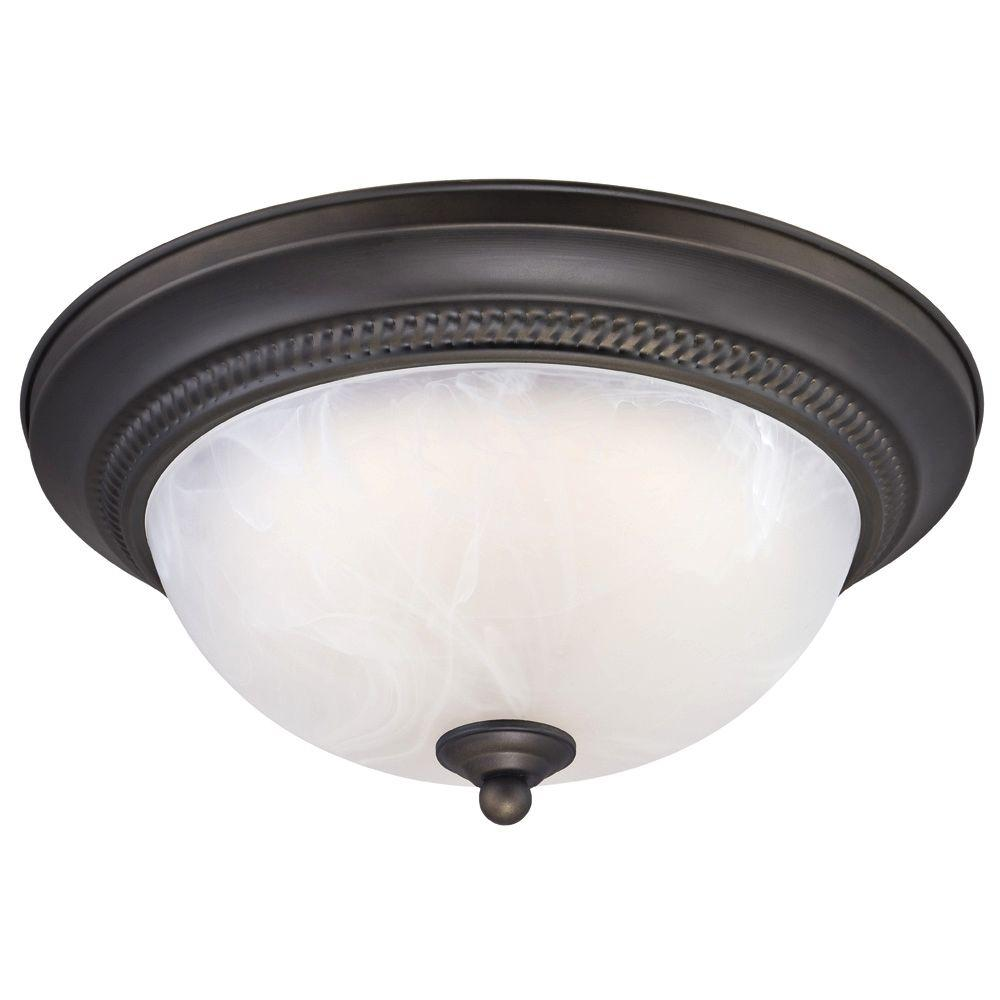 Westinghouse Oil-Rubbed Bronze LED Dimmable Ceiling Fixture-6400700 - The Home