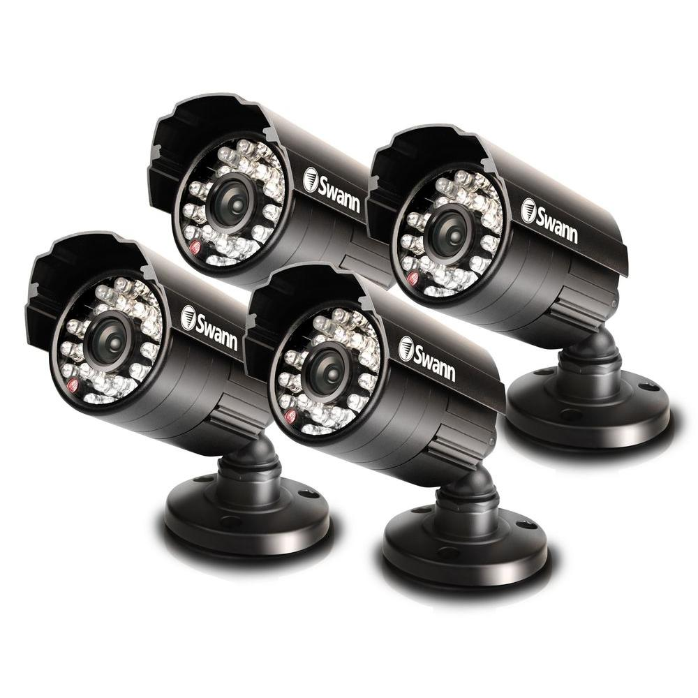 Swann PRO-530 - Multi-Purpose Day/Night 600 TVL Security Camera 4-Pack-DISCONTINUED