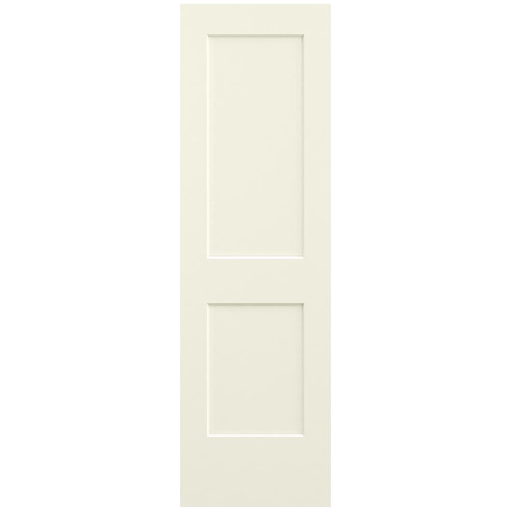 Jeld Wen 24 In X 80 In Smooth 2 Panel French Vanilla
