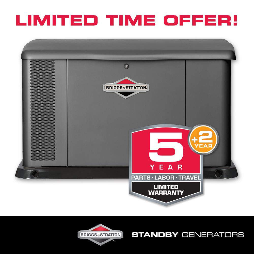 Briggs & Stratton 20,000-Watt Automatic Air Cooled Standby Generator with