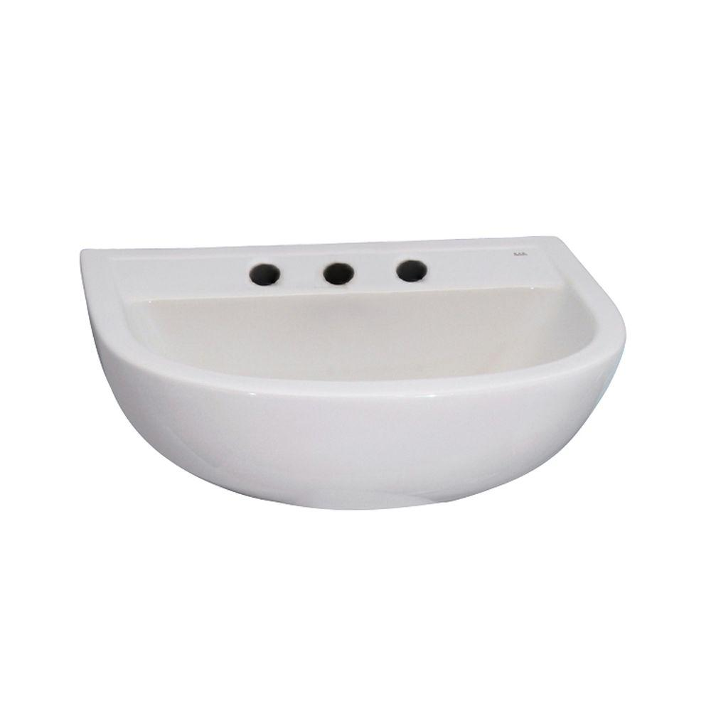 Compact 450 Wall-Hung Bathroom Sink in White