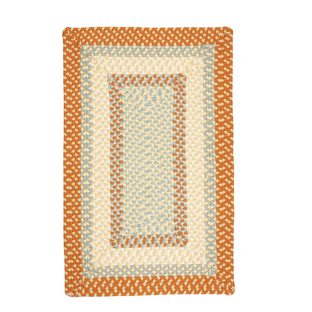 Blithe Tangerine 2 ft. x 3 ft. Rectangle Braided Accent Rug