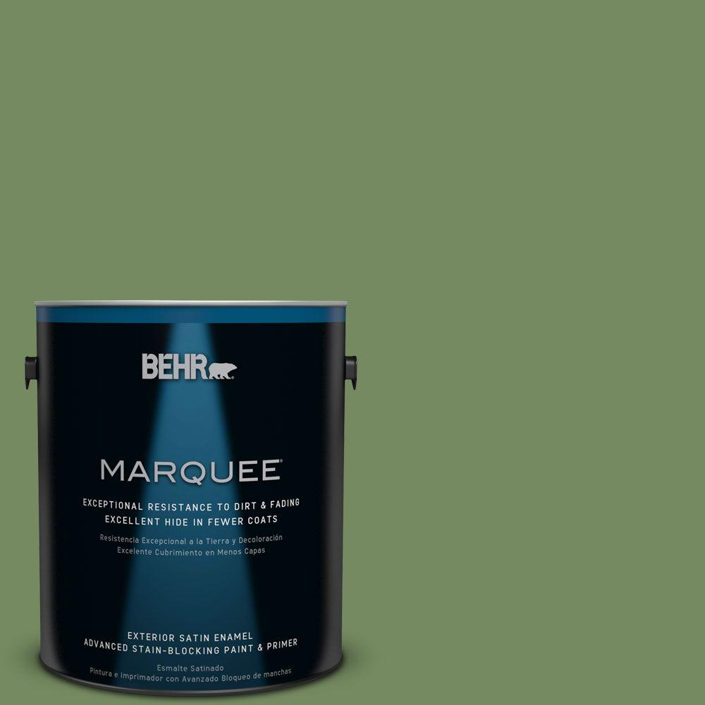 BEHR MARQUEE 1-gal. #M380-6 Fern Canopy Satin Enamel Exterior Paint-945301 -