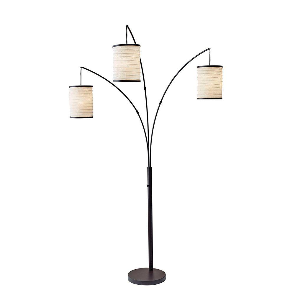 Adesso Bellows 81 in. Beige Arc Lamp-4153-26 - The Home Depot
