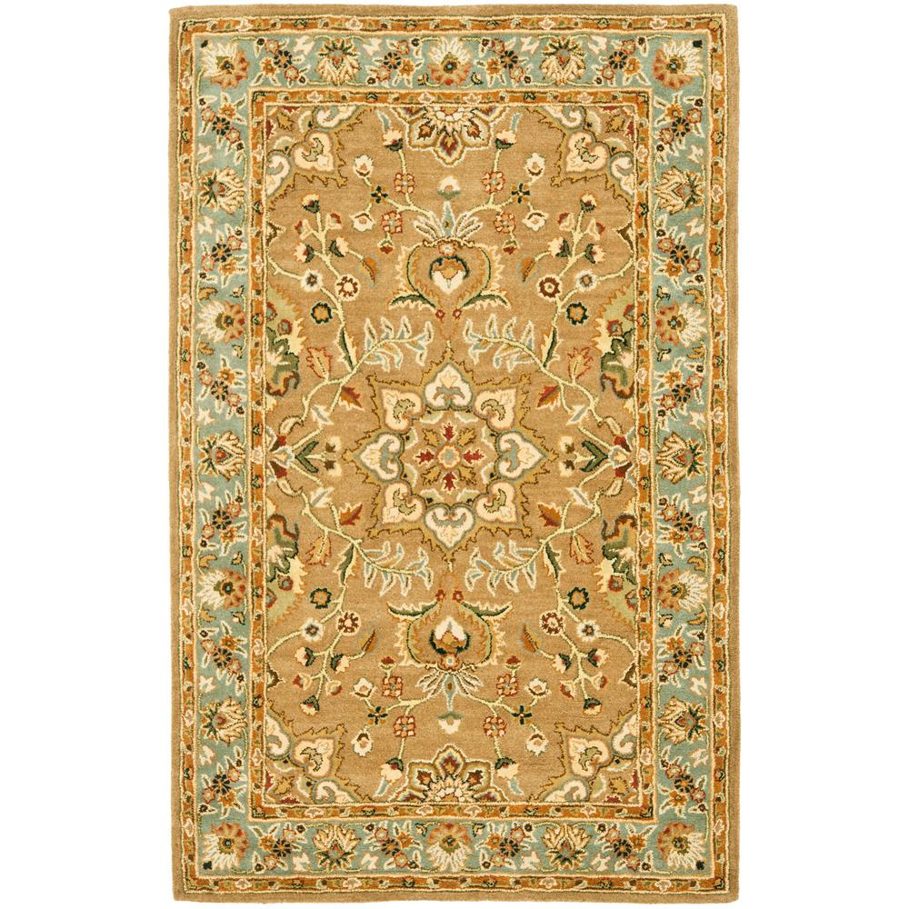 Classic Beige/Light Blue 6 ft. x 9 ft. Area Rug