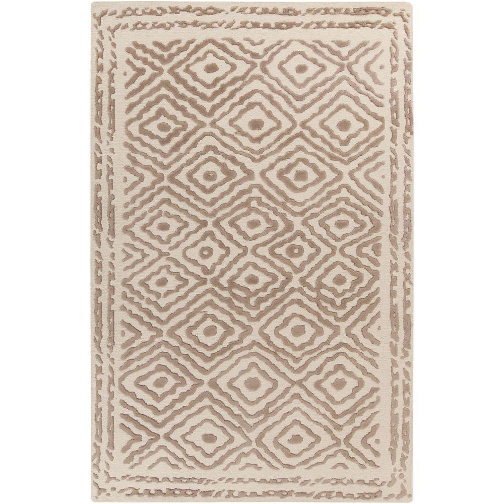 Erinome Taupe 3 ft. 3 in. x 5 ft. 3 in.