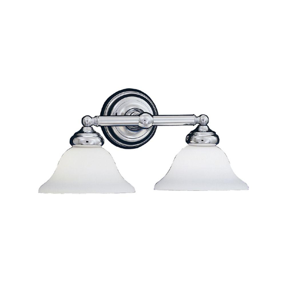 Redondo Collection 2-Light Chrome Wall Mount Vanity Light