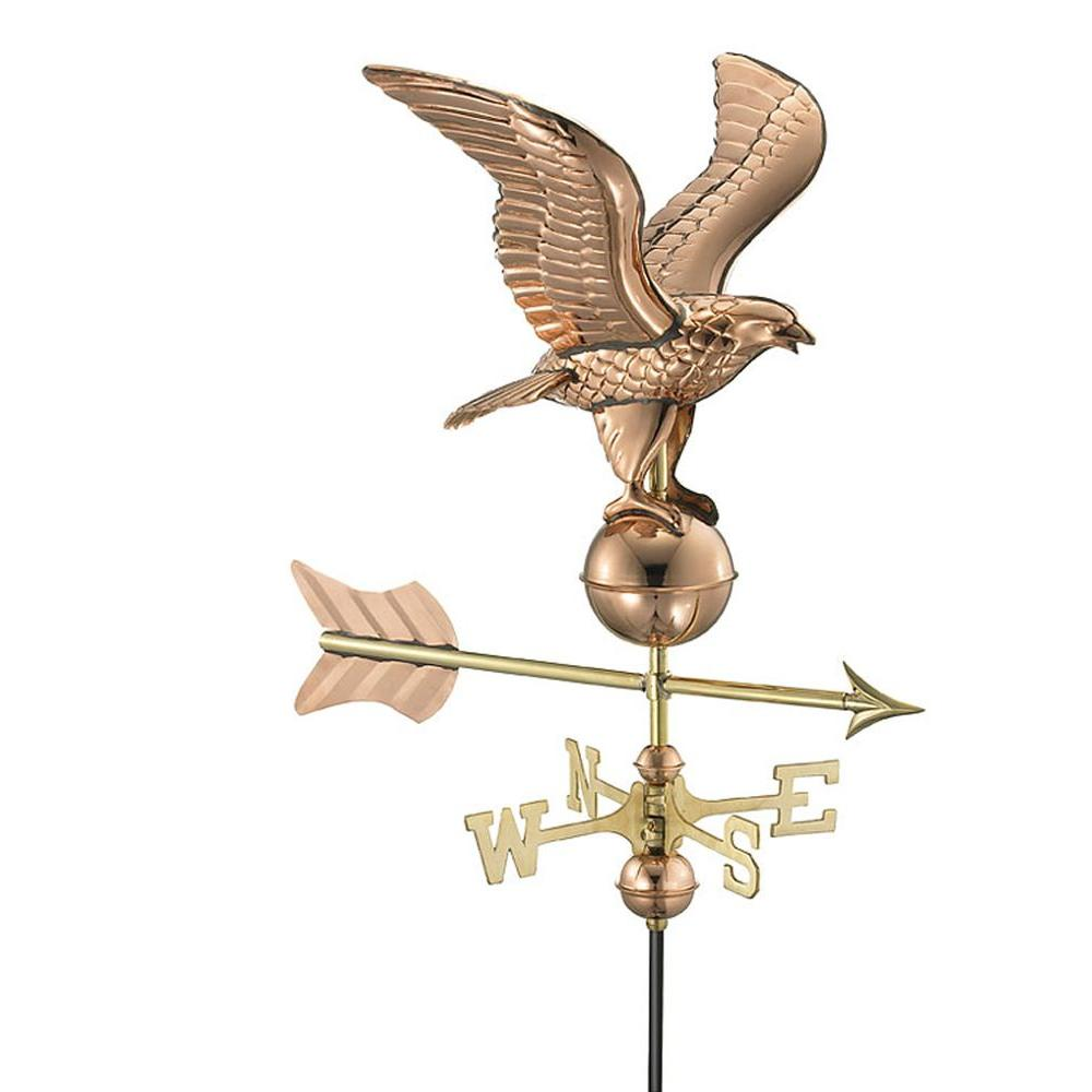 Good Directions Eagle Garden Weathervane Pure Copper with Garden