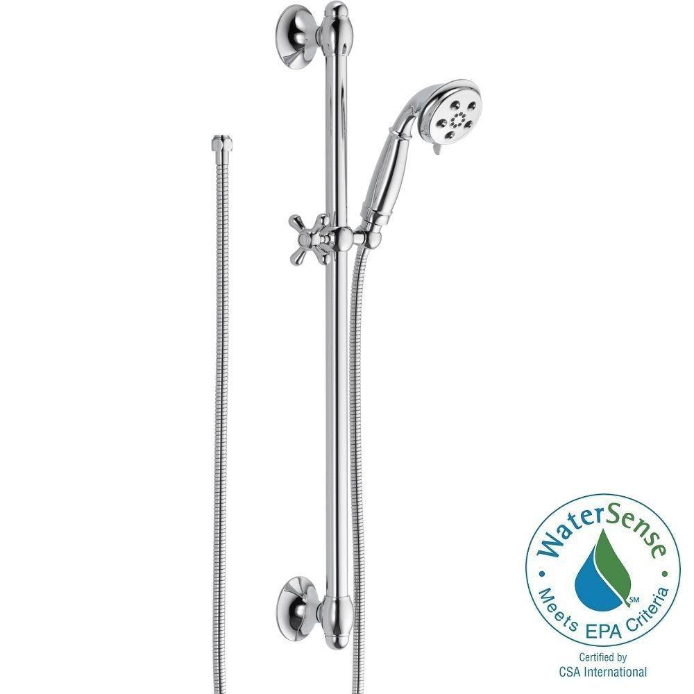 3-Spray 2.0 GPM Hand Shower with Slide Bar in Chrome Featuring