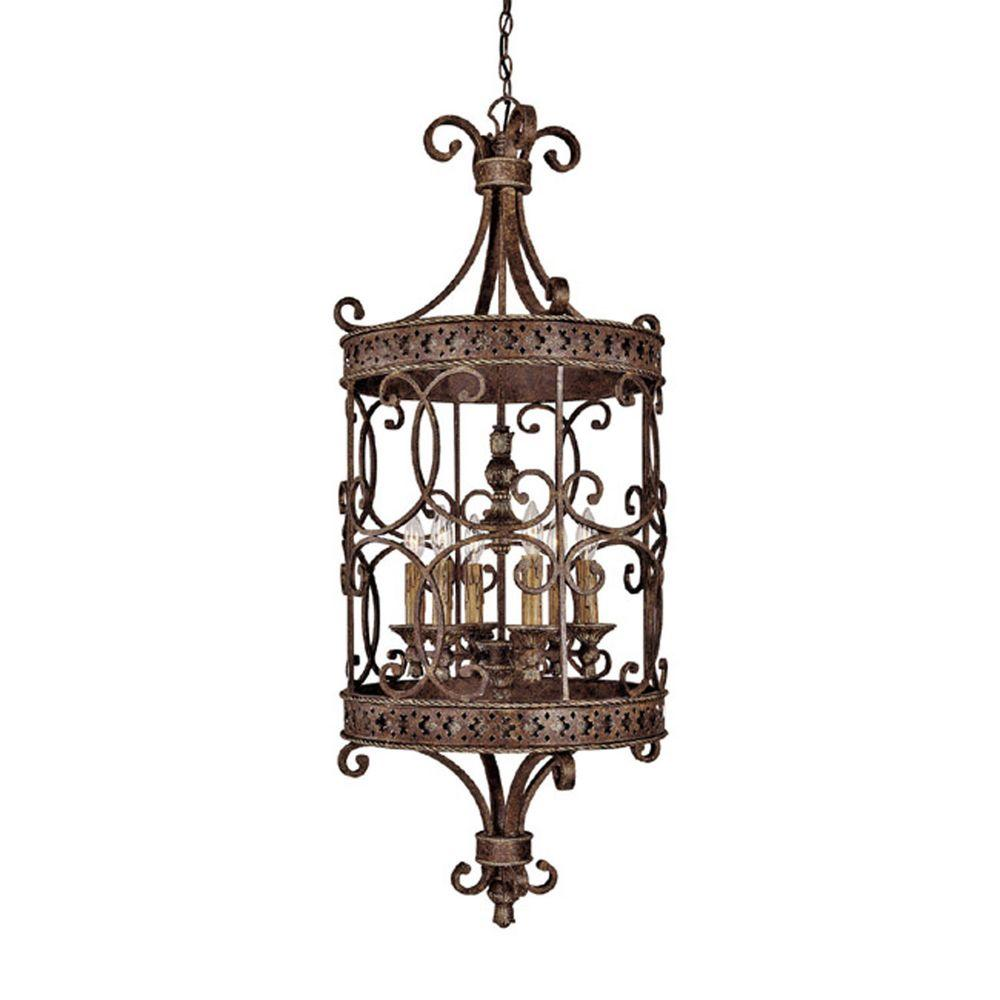 Filament Design 6-Light Crusted Umber Foyer Pendant-DISCONTINUED