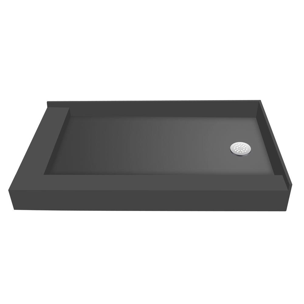 30 in. x 48 in. Double Threshold Shower Base with Right