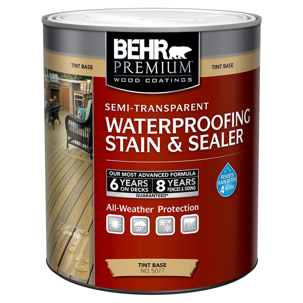 1-qt. Deep Base Semi-Transparent Color Waterproofing Stain and Sealer
