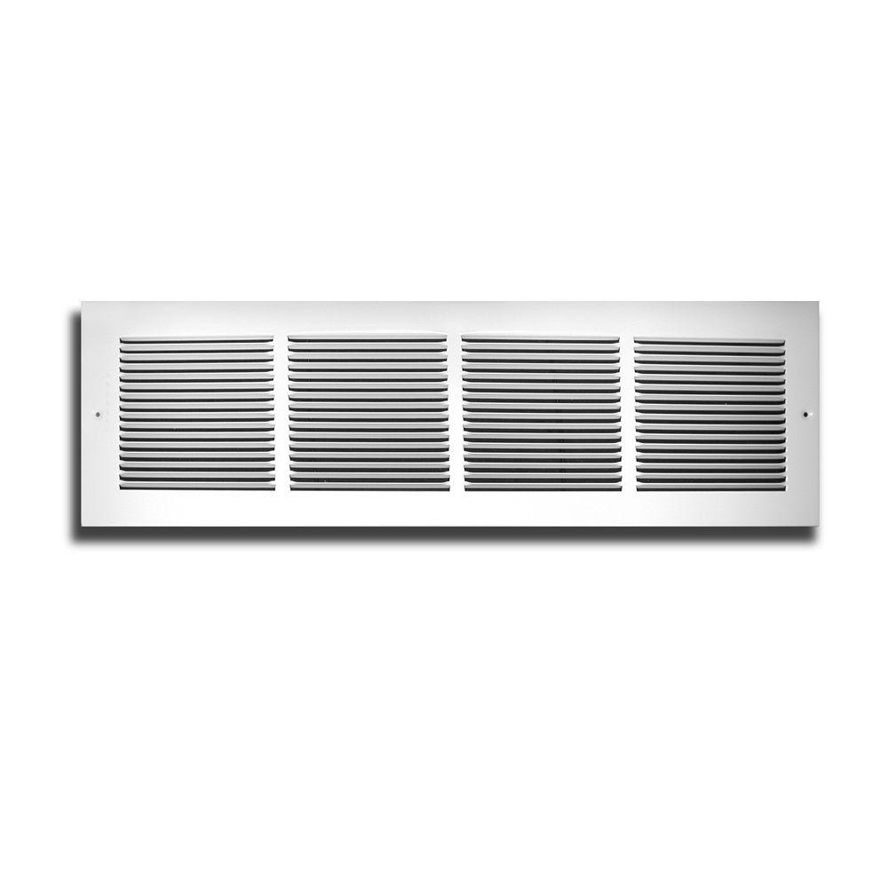 TruAire 30 in. x 6 in. White 1/3 in. Fin Spaced Return Air Grille