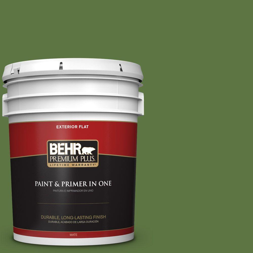 5-gal. #420D-7 Dill Pickle Flat Exterior Paint