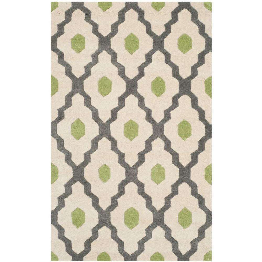 Chatham Dark Gray/Ivory 3 ft. x 5 ft. Area Rug