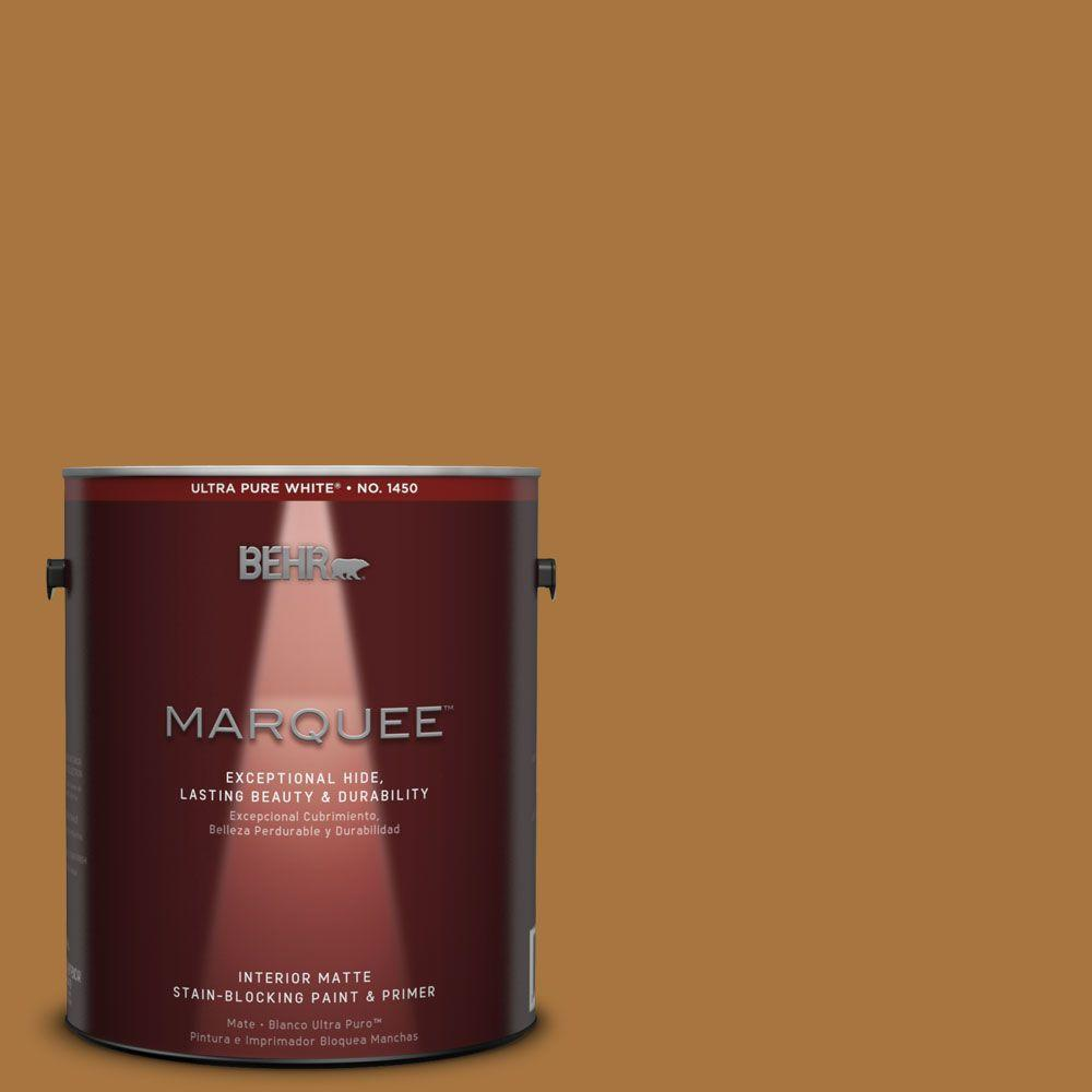 1 gal. #MQ4-6 Invitation Gold One-Coat Hide Matte Interior Paint