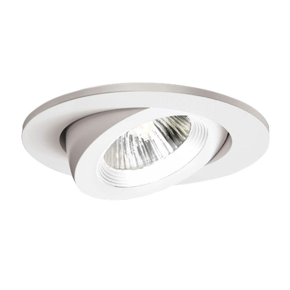 Halo 3 In White Recessed Lighting Adjustable Gimbal Trim