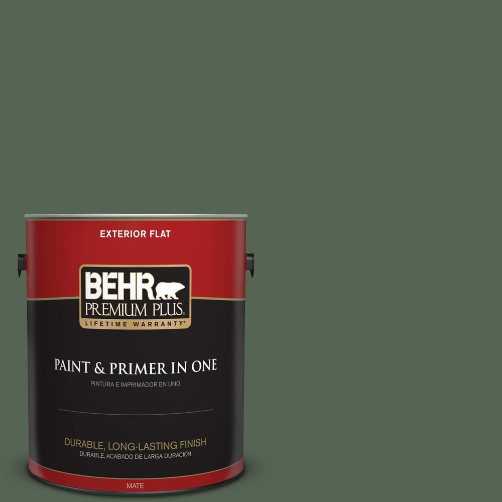 1 gal. #PPU11-19 Lakeside Pine Flat Exterior Paint
