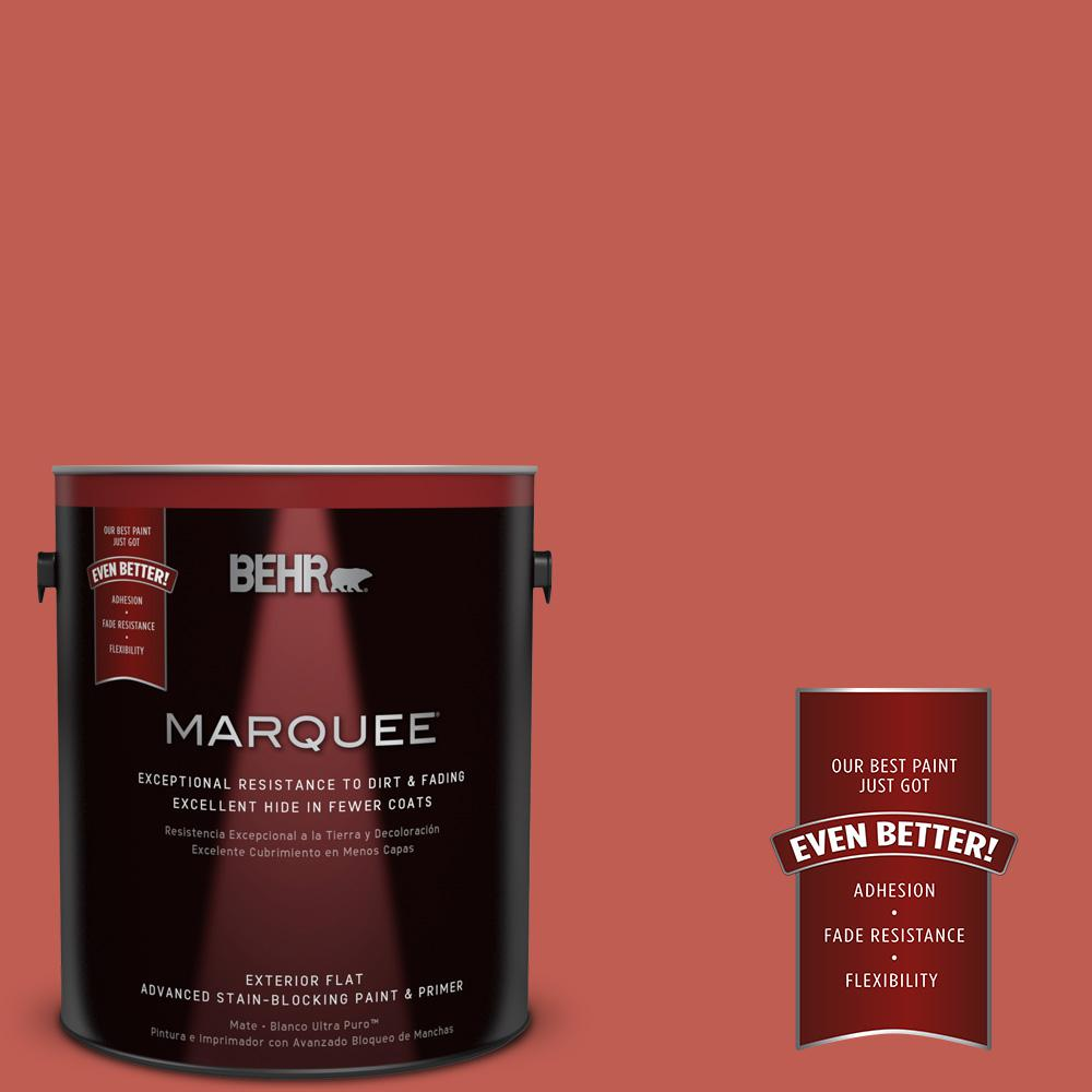 BEHR MARQUEE 1-gal. #190D-6 Red Jalapeno Flat Exterior Paint-445301 - The