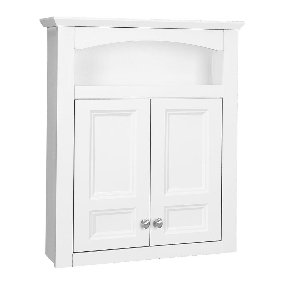 Closetmaid 19 7 8 In H X 24 In W X 12 1 4 In D Mdf Wall Cabinet In White 12280 The Home Depot
