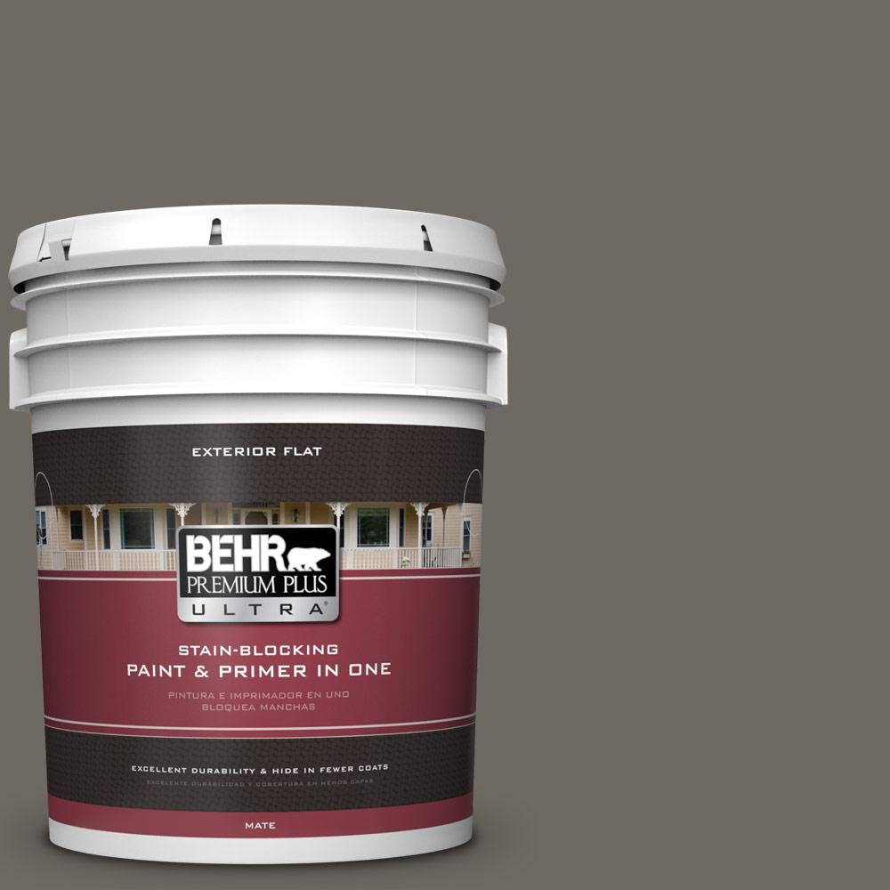 5 gal. #PPU24-04 Burnished Pewter Flat Exterior Paint
