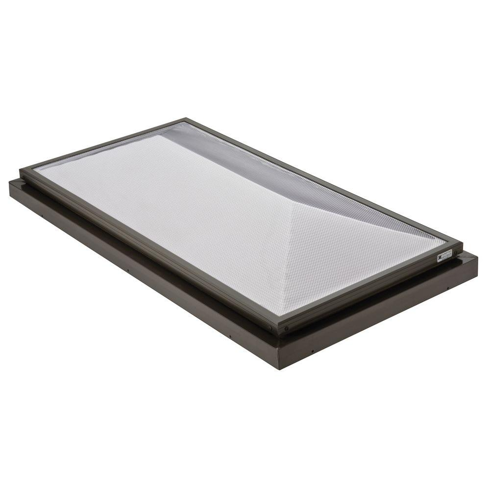 Sunoptics Prismatic 2 ft. x 4 ft. Fixed Curb-Mounted Double Hip Skylight