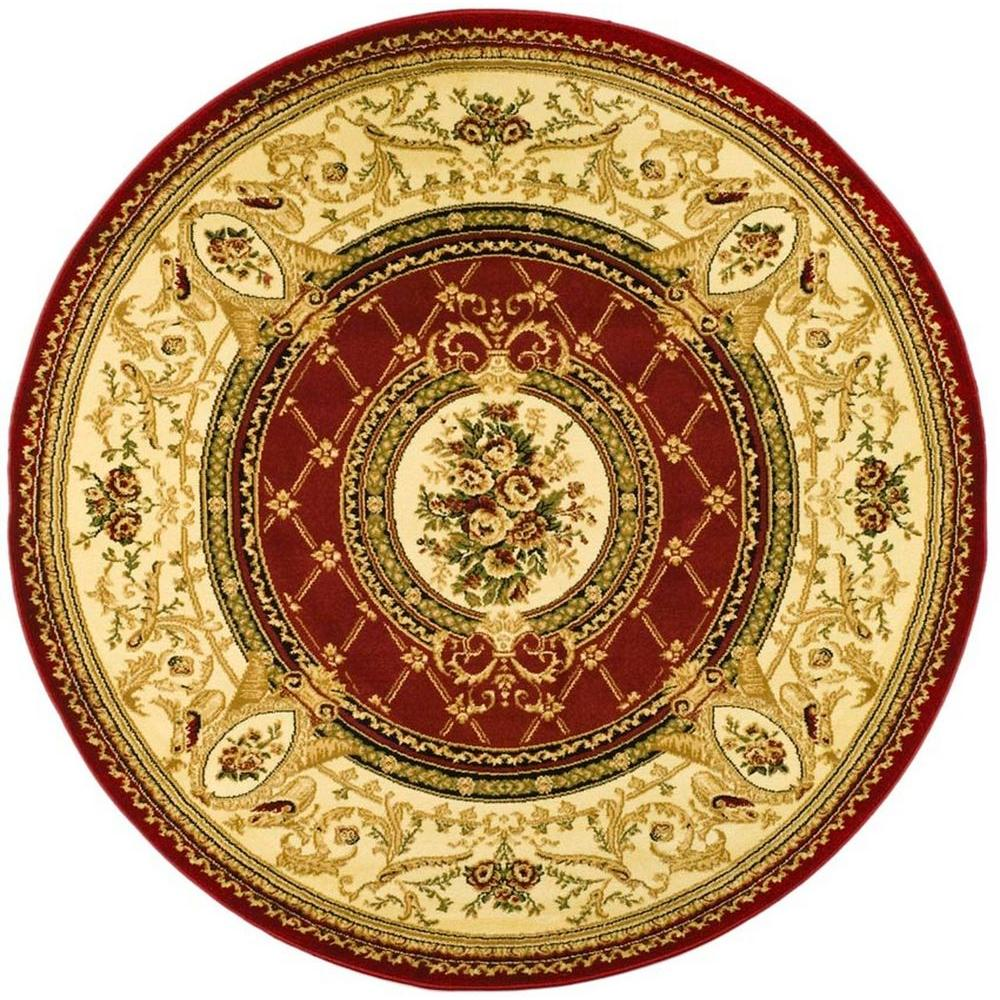 Safavieh Lyndhurst Red/Ivory 8 ft. x 8 ft. Round Area Rug-LNH223B-8R