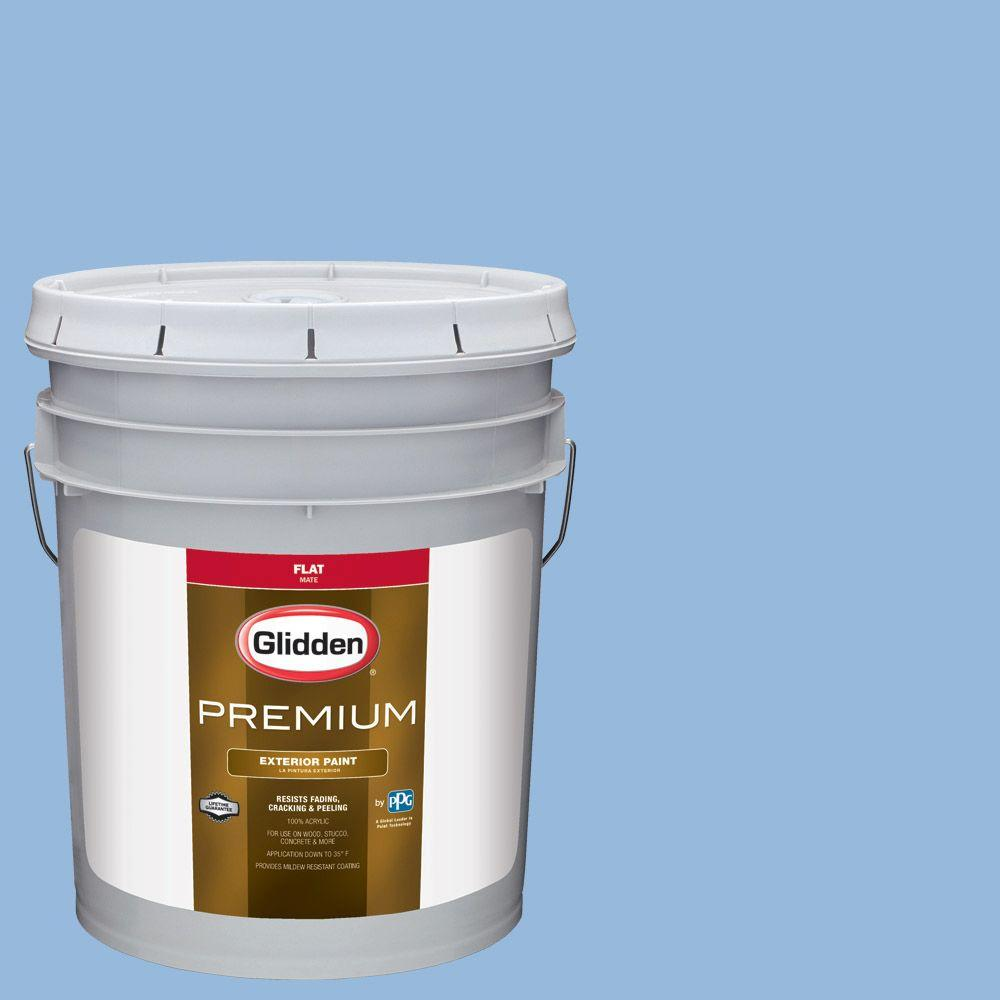 Glidden Premium 5-gal. #HDGV15 French Country Blue Flat Latex Exterior Paint