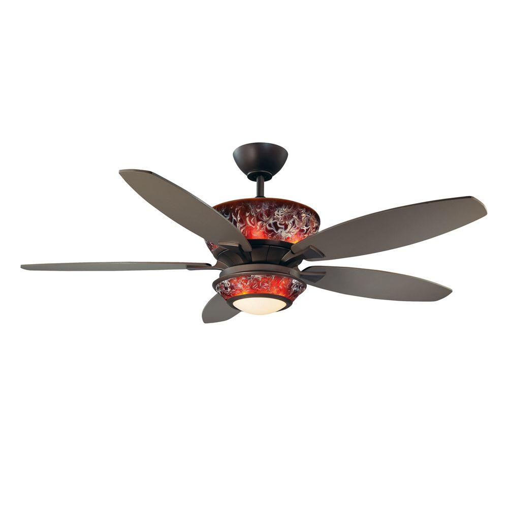 Designers Choice Collection Mocha 52 in. Oil Rubbed Bronze Ceiling Fan