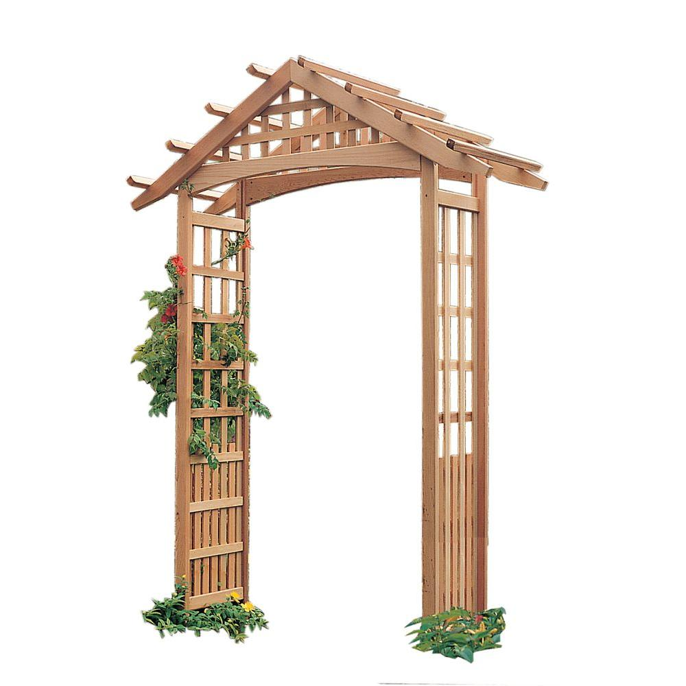 97 in. x 72.75 in. Real Cedar Nantucket Arbor
