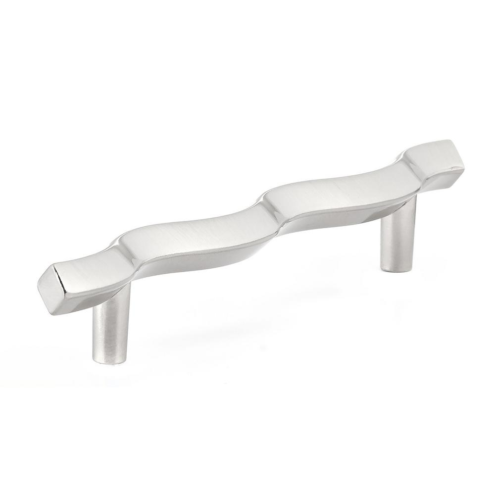 Contemporary and Modern 5 in. Satin Chrome Metal Pull