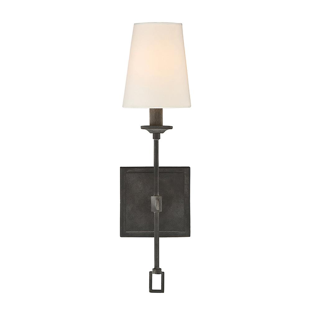 1-Light Oxidized Black Sconce