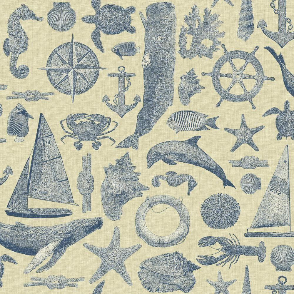 York Wallcoverings 56 sq. ft. Nautical Living Maritime Wallpaper-NY4818 - The