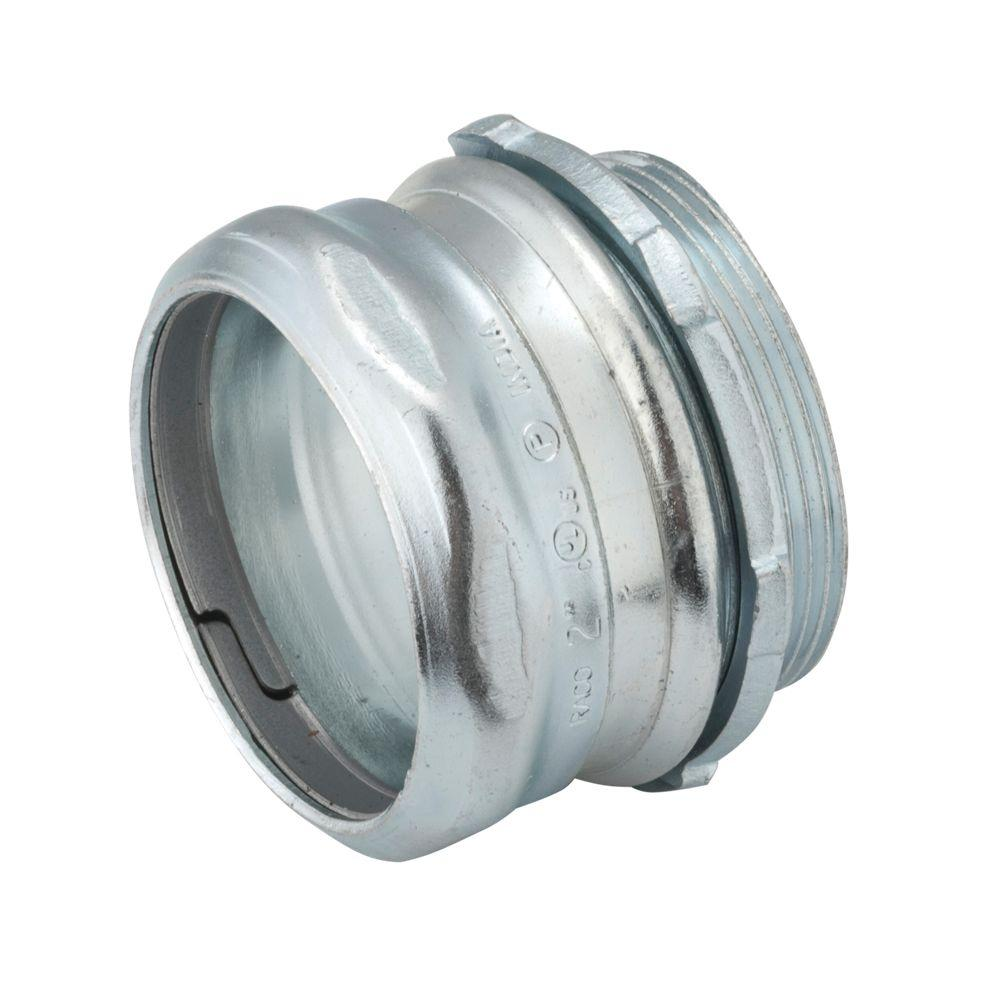 4 in. EMT Un-Insulated Steel Compression Connector