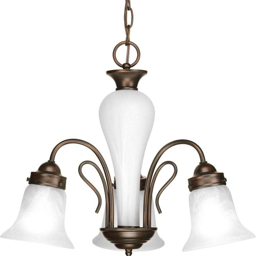 Bedford Collection 3-Light Antique Bronze Chandelier