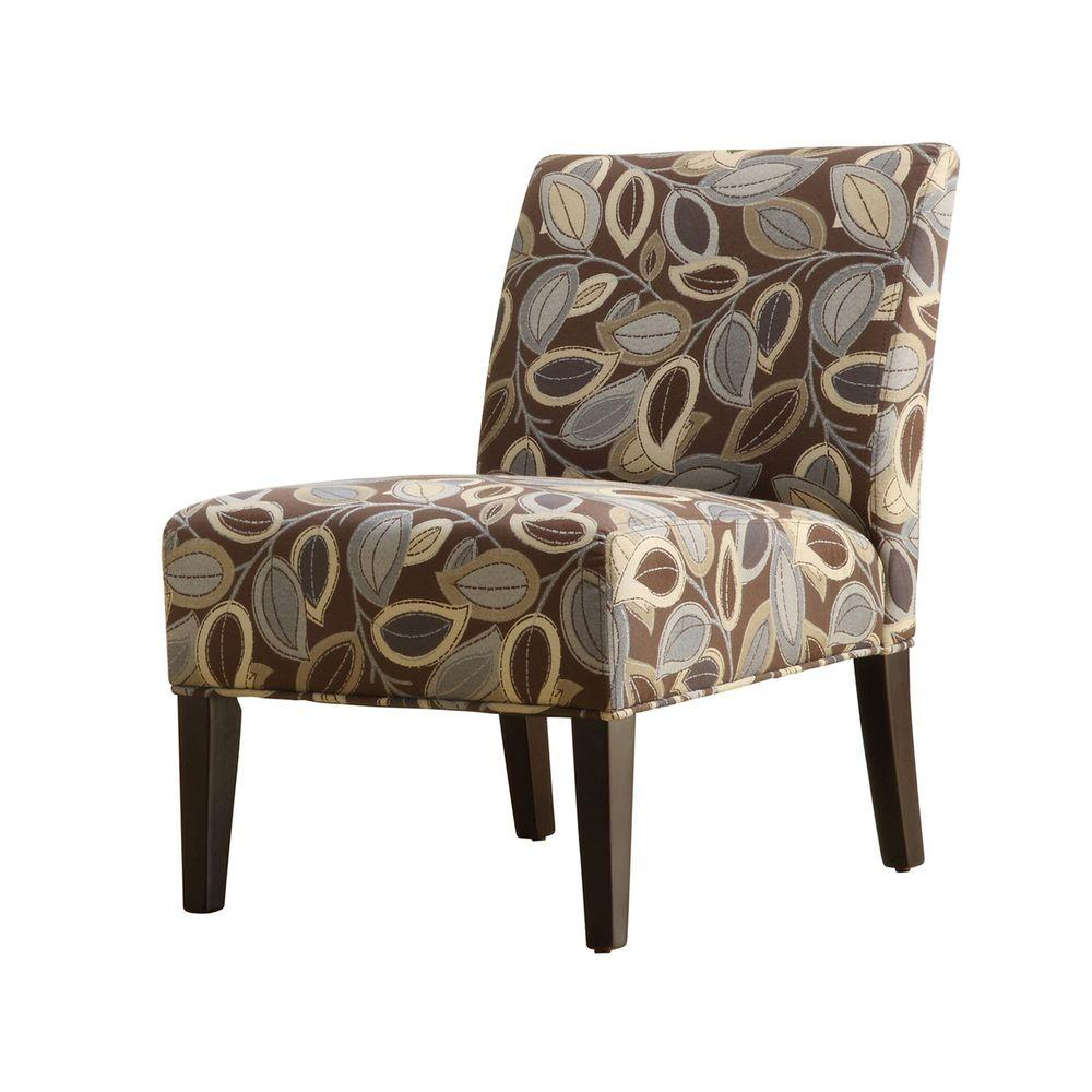 Home Decorators Collection Leaves Print Upholstered Lounge Chair-DISCONTINUED