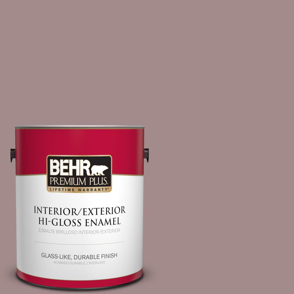 BEHR Premium Plus 1 gal. #PPU17-15 Cameo Rose High-Gloss Enamel