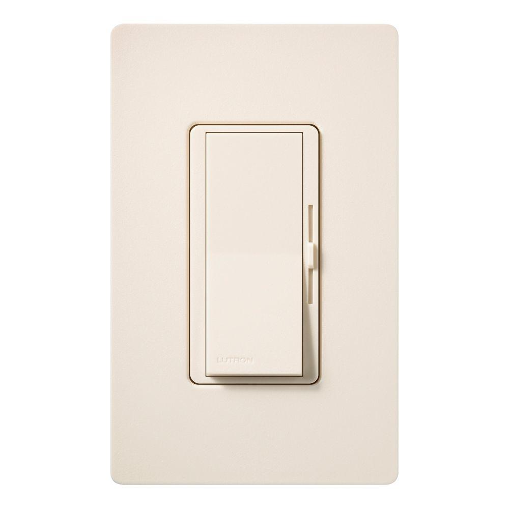 Lutron Diva 600-Watt Single-Pole Dimmer - Eggshell