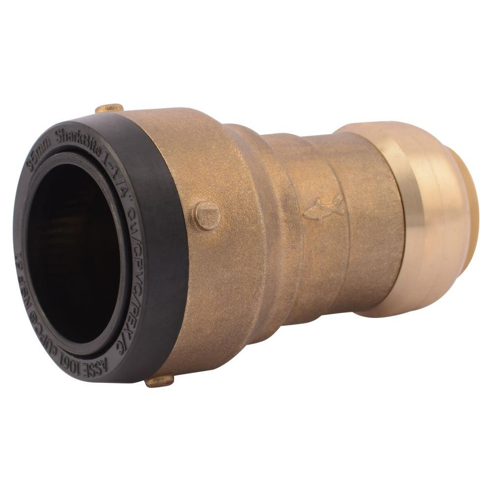 SharkBite 1-1/4 in. x 1 in. Brass Push-to-Connect Reducer Coupling