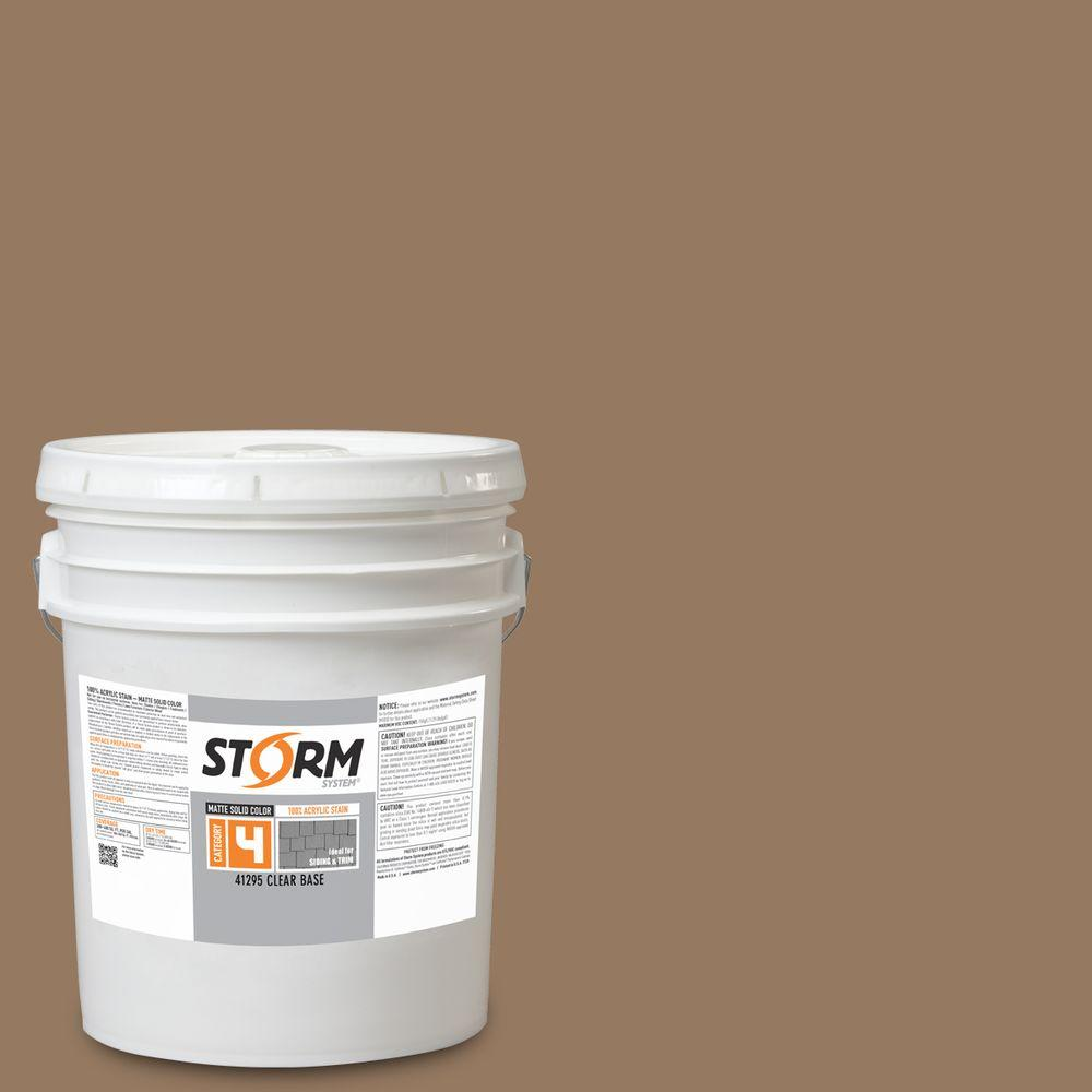 Storm System Category 4 5 gal. Cubano Brown Matte Exterior Wood