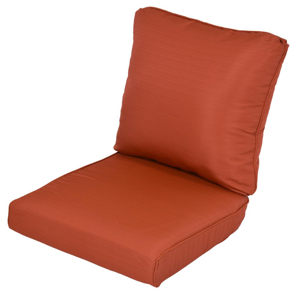 Lemon Grove Quarry Red Replacement 2-Piece Outdoor Loveseat Cushion