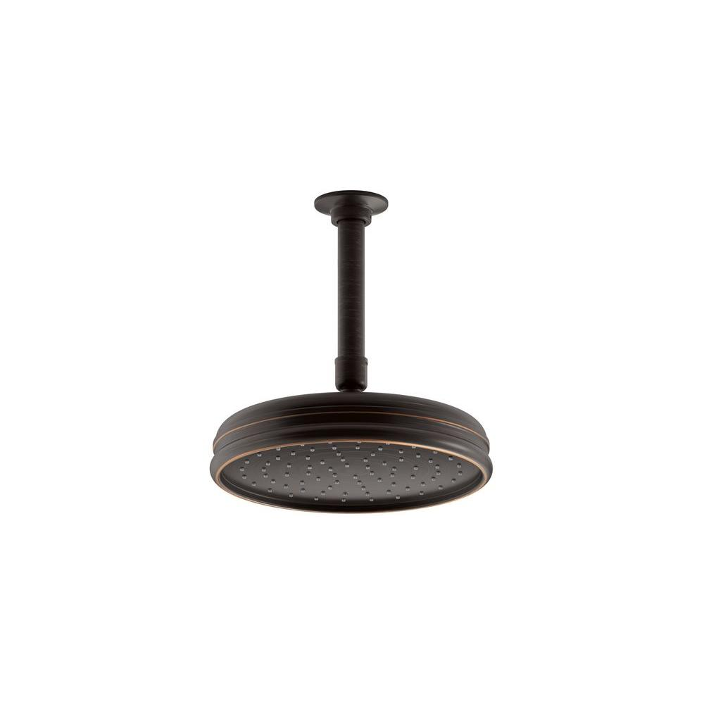 KOHLER Traditional 1-Spray 8 in. Round Rainhead Showerhead in Oil-Rubbed