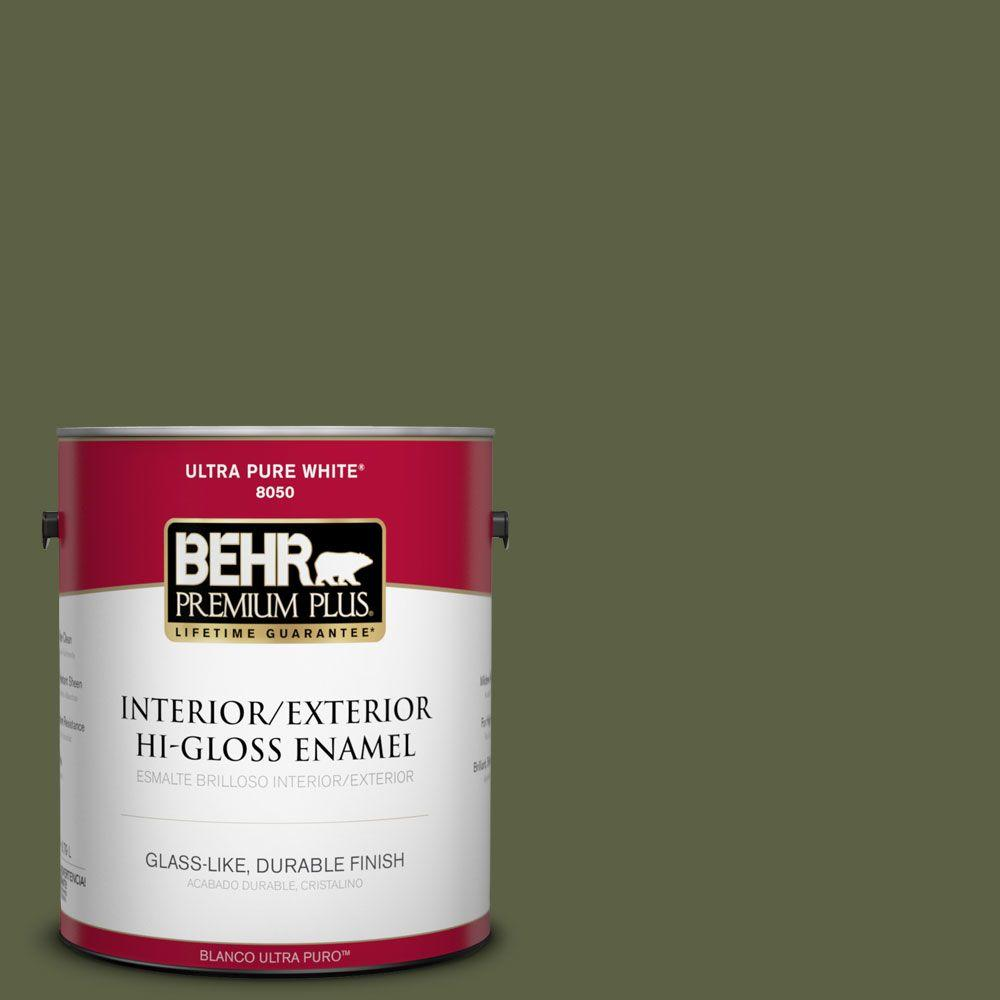 BEHR Premium Plus 1-gal. #S360-7 Down-to-Earth Hi-Gloss Enamel Interior/Exterior Paint