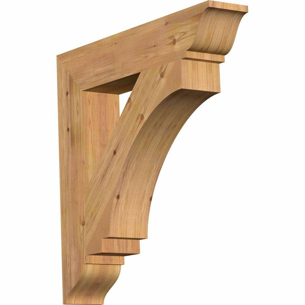 Ekena Millwork 5.5 in. x 32 in. x 32 in. Western Red Cedar Imperial Traditional Smooth Bracket