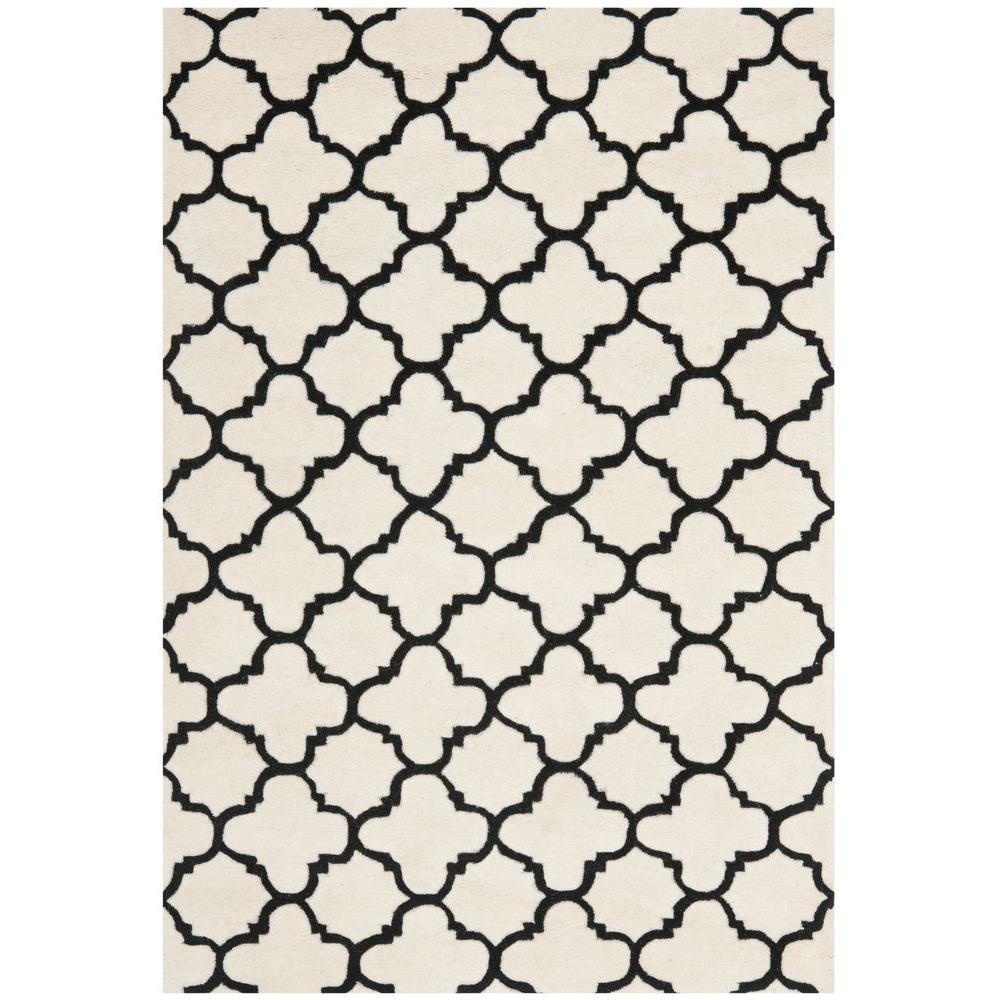 Chatham Ivory/Black 8 ft. 9 in. x 12 ft. Area Rug