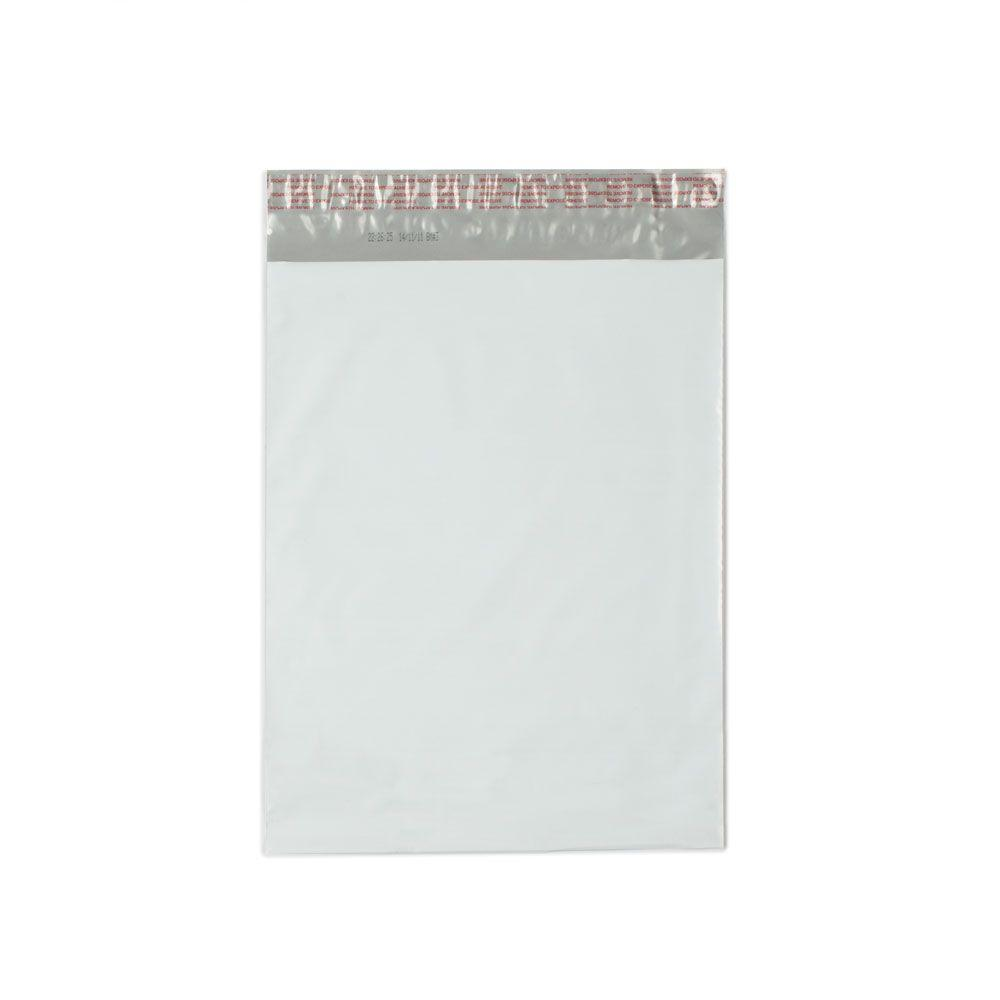 10 in. x 13 in. White / Silver Flat Poly Mailers