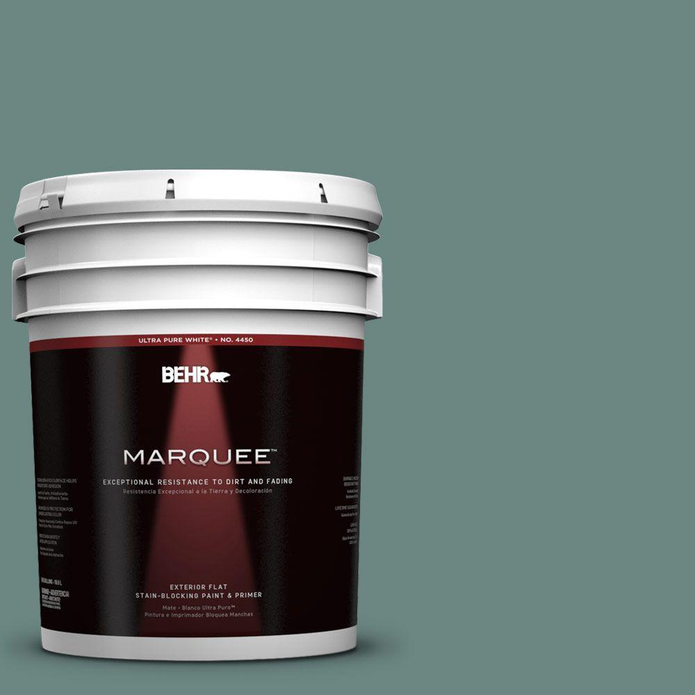 BEHR MARQUEE 5-gal. #480F-5 Marsh Creek Flat Exterior Paint