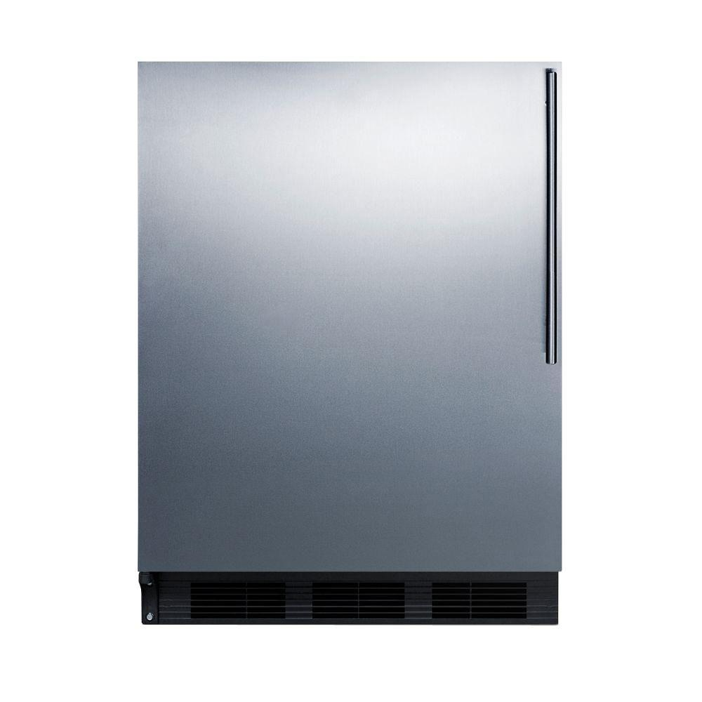 Summit Appliance 5.1 cu. ft. Mini Refrigerator in Stainless Steel, Stainless Steel Wrapped Door/Black Cabinet