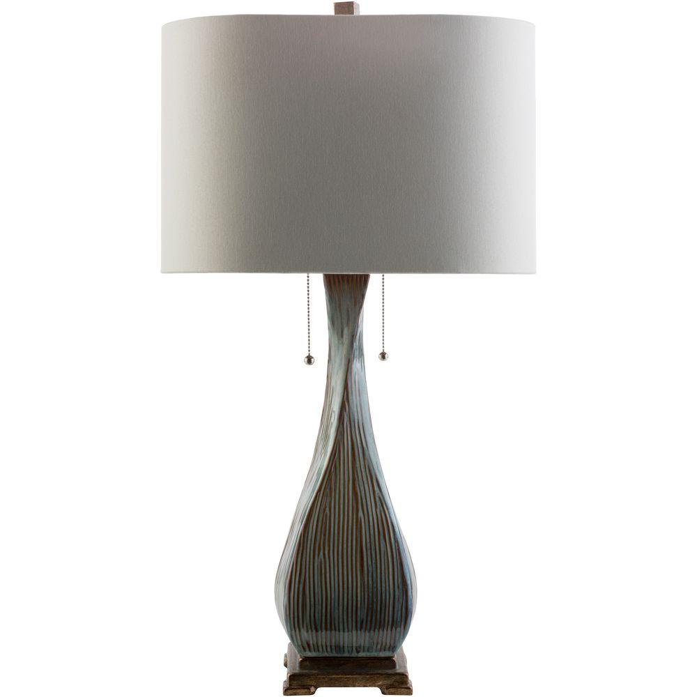 Camillo 30 in. Light Brown Indoor Table Lamp